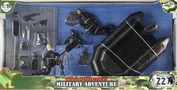 World Peacekeepers Toy Military Adventure with Motorbike/ & Horse OR Raft 3+ Yrs